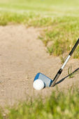 Playing golf. bunker — Foto Stock
