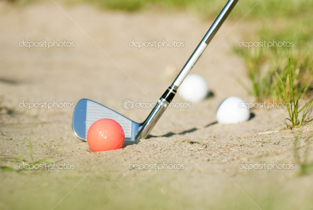 Playing golf on  — Stock Photo #10872358