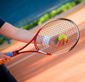 Playing tennis — Stock Photo