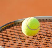 Tennis racket and tennis ball — Stock Photo