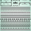 Set of decorative borders — Stock vektor #10799407