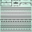 Set of decorative borders — Cтоковый вектор #10799407