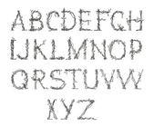 Alfabeto, pintados a mano — Foto de Stock