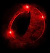 Rode alfabet, o — Stockfoto