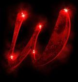 красный алфавит, w — Стоковое фото