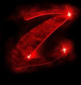 Red alphabet, Z — Stock Photo