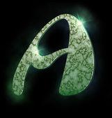 Mermer alfabesi, bir — Stok fotoğraf