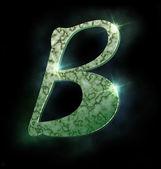 Marmeren alfabet, b — Stockfoto