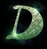 Marble alphabet, D — Stock Photo