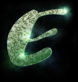 Marble alphabet, E — Stock Photo