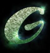 Marmur alfabet, g — Zdjęcie stockowe