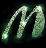 Alphabet en marbre, m — Photo
