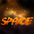 Magical space, orange - Stock Photo