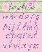 Letters, textil — Stock Vector
