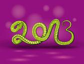 Green snake 2013 — Stock Vector