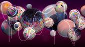 Grupo de planetas abstractos — Foto de Stock