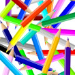 Stock Photo: Colorful pencils chaos backgound