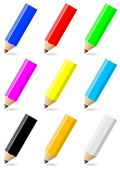 Set of colorful pencils with black tip — Stock Photo