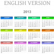 Stock Photo: 2013 calendar english version