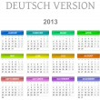 2013 calendar deutsch version — Stock Photo