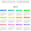 2013 crayons calendar deutsch version — Stock Photo