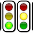 Stock Photo: Web security traffic ligths buttons