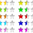 Colorful rating stars set — Stock Photo