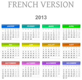 2013 calendar french version — Stock Photo