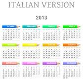 2013 crayons calendar italian version — Stock Photo