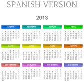 Versión en español calendario 2013 — Foto de Stock
