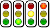 Web security traffic ligths buttons — Stock Photo