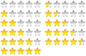Rating stars — Stock Photo