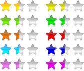 Colorful rating stars set — Stock Photo