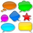 Stock Photo: Comic speech bubbles set