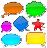 Comic speech bubbles set — Stock Photo