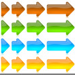 Stock Photo: Progressive colored arrows icons