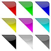 Colorful frame corners — Stock Photo