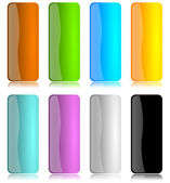 Colored and glossy vertical bar set — Stock Photo