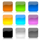Colored app buttons set — Stock Photo