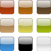 Colorful web app empty buttons collection — Stock Photo