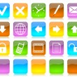 colorful internet icons series — Stock Photo