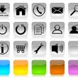 Black on white internet icons series — Stock Photo