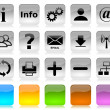 Stock Photo: Black on white internet icons series