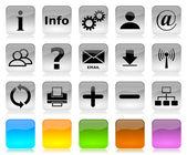 Black on white internet icons series — Stock Photo