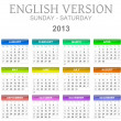 Stock Photo: 2013 calendar english version sun - sat