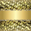 Defocused Gold Background - Stock Vector