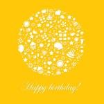 Cute Happy Birthday Card — Stock Vector #11151678