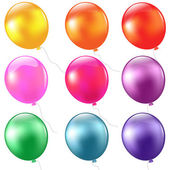 Großes set luftballons — Stockvektor