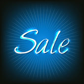 Blue Sale Poster — Stock Vector