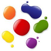 Color Blobs Set — Vector de stock
